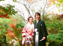 日本庭園にて和装前撮りロケ