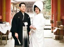 日吉大社にて結婚式