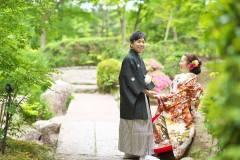 日本庭園にて前撮りロケ