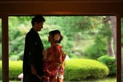 日本庭園和室にて前撮りロケ