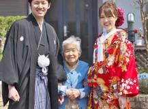優しいお祖母ちゃんと一緒に和装前撮り