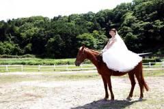 水口乗馬クラブにてお馬と一緒に前撮り