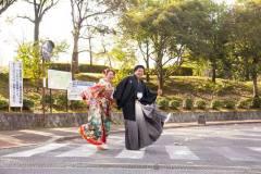 びわこ文化公園にて和装前撮り