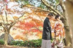 紅葉と和装前撮りロケーション