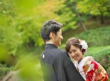 大津市の日本庭園にて前撮りロケ