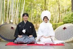 日本庭園竹林にて和装前撮り