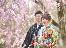 結婚式和装前撮り桜フォト