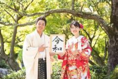 令和元年大津市の日本庭園にて和装前撮りロケ