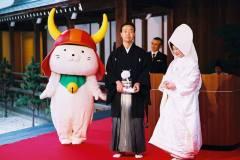 彦根城の能舞台にて結婚式
