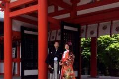 近江神宮にて結婚式