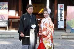 勝部神社にて結婚式