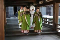 京都知恩院にて結婚式