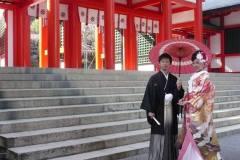 三重県からお越しで近江神宮にて結婚式