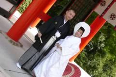 近江神宮にて和婚神社挙式