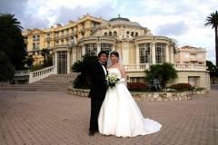 フランスのニース ロス・チャイルド邸にて結婚式