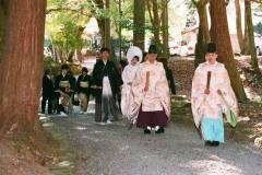 日吉大社にて結婚式参列