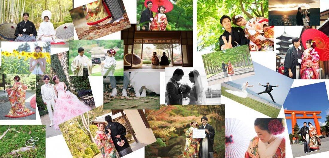 滋賀ブルースターでウエディングドレスレンタルや前撮りロケーションまたは結婚式場ご紹介をご利用頂きましたお客様のお写真