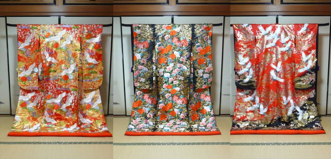滋賀結婚式での和婚神前式や和装前撮りで人気の白無垢色打掛レンタル