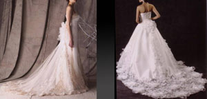 豪華なウェディングドレスを格安レンタル