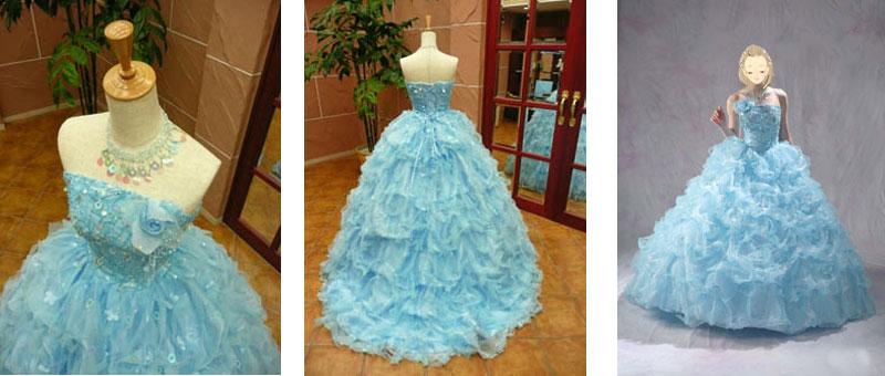 滋賀で可愛いカラードレスのレンタルが人気