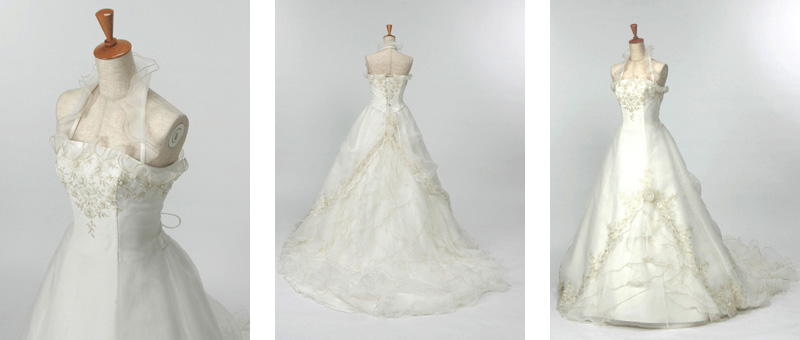 Aラインのウェディングドレスを格安でレンタル