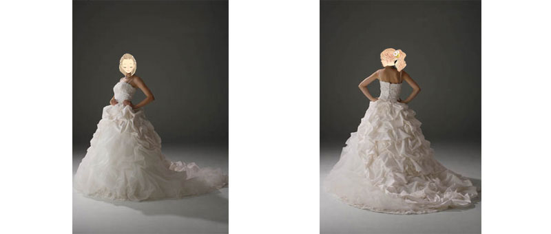結婚式でのウェディングドレス(プリンセスライン)も格安でレンタル
