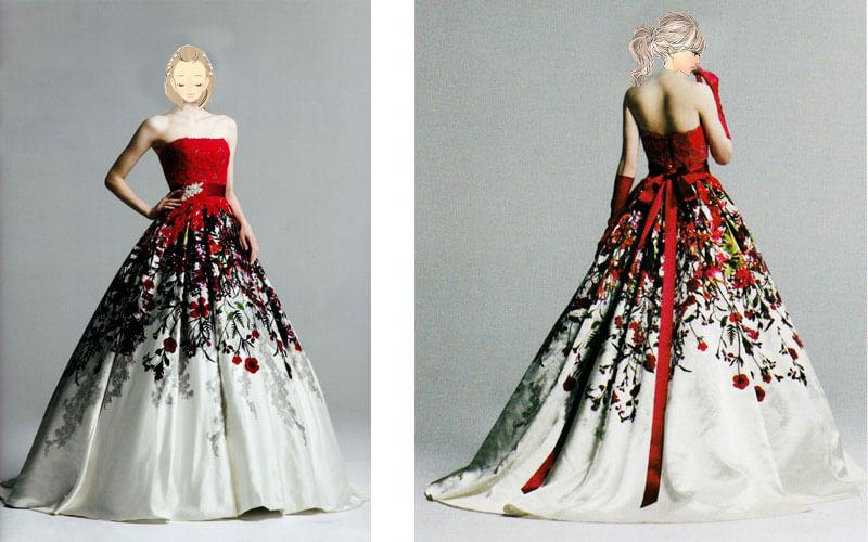 赤色のカラードレスが京都でも人気のドレスショップ滋賀ブルースター
