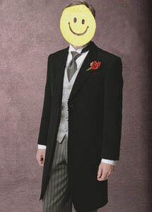 結婚式お洒落な父親衣裳モーニングレンタル